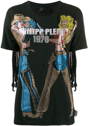 Philipp Plein crystal cowboy T-shirt