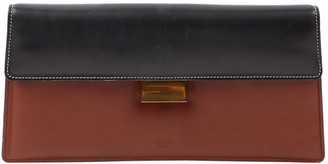 Celine Clasp Brown Leather Clutch bags
