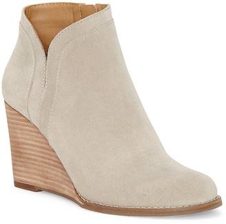 Lucky Brand Women's Casual boots CHINCHILLA - Chinchilla Yimina Leather Wedge Bootie - Women