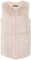 Simonetta Ravizza shearling gilet - women - Rabbit Fur/Polyamide/Viscose/Wool - 44