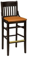 "Regal Beechwood School House Upholstered Seat Bar & Counter Stool Seat Height: Bar Stool (31"" Seat Height)"