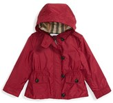 Burberry Toddler Girl's 'Karen' Hooded Nylon Jacket