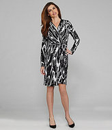 Peter Nygard Surplice V-Neck Faux-Wrap Dress