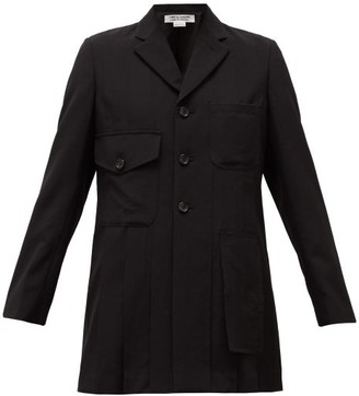 Comme des Garçons Comme des Garçons Single-breasted Pleated-wool Jacket - Black