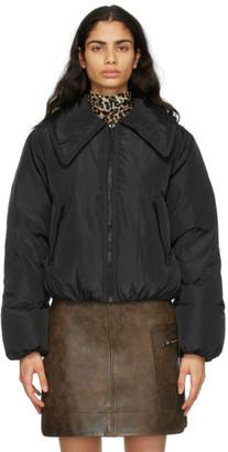 Ganni Black Down Tech Cropped Jacket