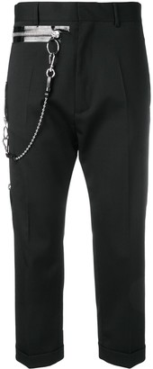 DSQUARED2 Chain Detail Cropped Trousers