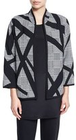 Caroline Rose Intersection Houndstooth Boxy Jacket, Plus Size