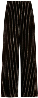 Eva Striped Wide-Leg Trousers