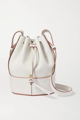 Loewe Balloon Small Leather Bucket Bag - White