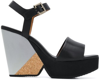 Clergerie High Wedge Heel Sandals