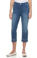 Gloria Vanderbilt Women's Jordyn Embroidered Capri Jeans