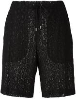 Giamba lace drawstring shorts