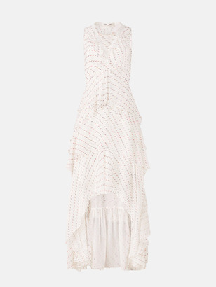 Diane von Furstenberg Bess Chiffon High-Low Gown