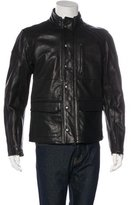 John Varvatos Leather Biker Jacket