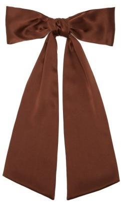 Sophie Buhai Bow Silk-satin Hair Clip - Brown