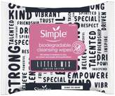 Simple x Little Mix Biodegradable Face Wipes 20 PC