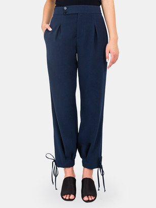 Standards & Practices Robie Double Button High Rise Ankle Tie Cuff Trousers