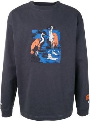 Heron Preston long-sleeved cotton T-shirt