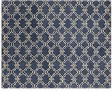 Pottery Barn Scroll Tile Rug - Indigo Blue