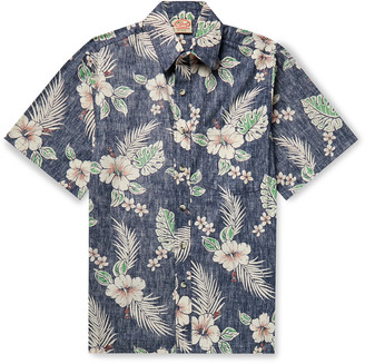 Go Barefoot Antique Hibiscus Printed Cotton Shirt