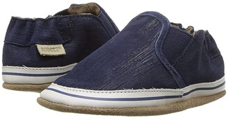 Robeez Liam Basic Soft Sole (Infant/Toddler/Little Kid) (Navy) Boy's Shoes