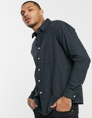 ASOS DESIGN 90s oversized flannel shirt in gray