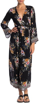 Raga Floral Hidden Garden Wrap Maxi Dress