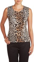 TanJay Nygard Women's Petite Tan Jay Sleeveless Scoop Neck Top