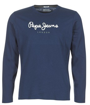 Pepe Jeans EGGO LONG men's Long Sleeve T-shirt in Blue