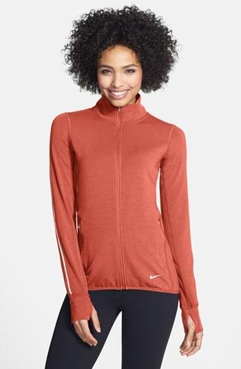 Nike 'Feather Fleece Run' Dri-FIT Zip Top