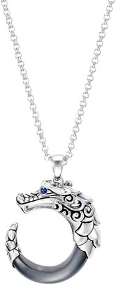 John Hardy Legends Naga Silver, Blue Sapphire, Hematite & Mother-Of-Pearl Pendant Necklace