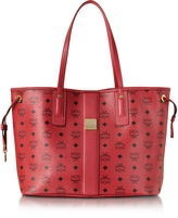 MCM Ruby Red Shopper Project Visetos Liz Reversible Medium Tote