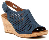 Rockport Briah Perforated Slingback Wedge Sandal