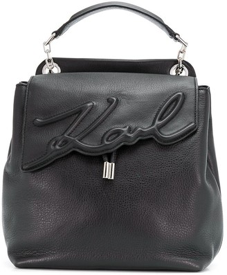 Karl Lagerfeld Paris K/Signature soft backpack