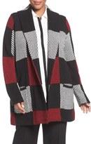 Foxcroft Plus Size Women's Buffalo Plaid Sweater Jacket