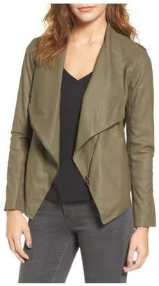BB Dakota Leather Drape Jacket