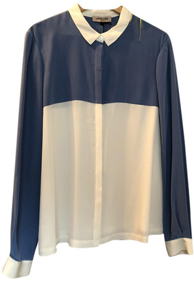 Jaeger Blue Silk Tops