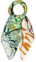 Roberto Cavalli Silk Abstract Scarf