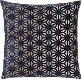 Horchow Regan Navy Lattice Pillow