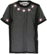Givenchy star mesh T-shirt - women - Silk/Cotton/Polyester - 36