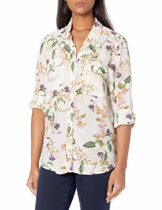 Lucky Brand Women's Long Sleeve Button Front Classic Utility Shirt