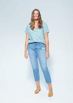 MANGO Pocket printed blouse