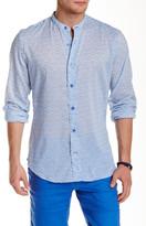 Ganesh Mandarin Collar Long Sleeve Slim Fit Shirt