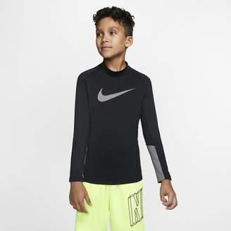 Nike Big Kids' (Boys') Long-Sleeve Mock-Neck Training Top Pro Therma