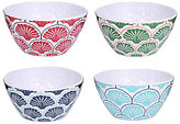 Southern Living Seashell Hammered Melamine Dip Bowls, Set of 4
