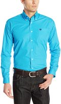 Cinch Men's Classic Fit Long Sleeve Button Down Dot Print Shirt