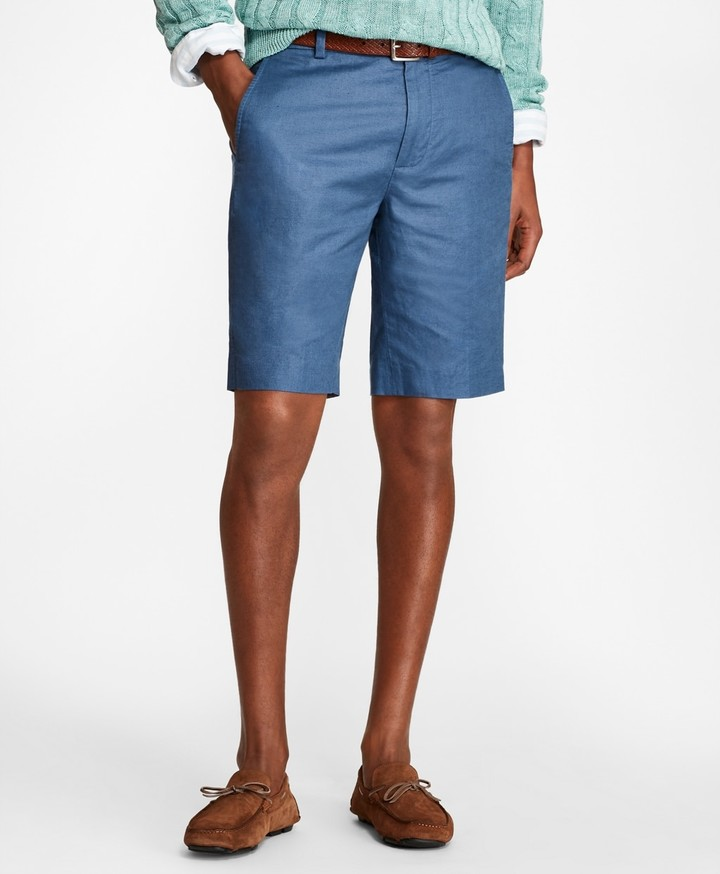 5b1747dc94 Linen and Cotton Bermuda Shorts