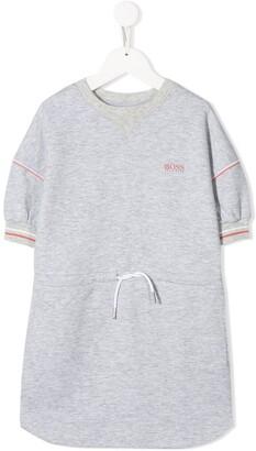 Boss Kidswear Logo Print Sweater Dress