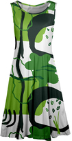 Aster Green & White Floral Sleeveless Dress - Plus Too