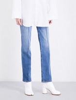 Maison Margiela Seam-detailed straight high-rise jeans